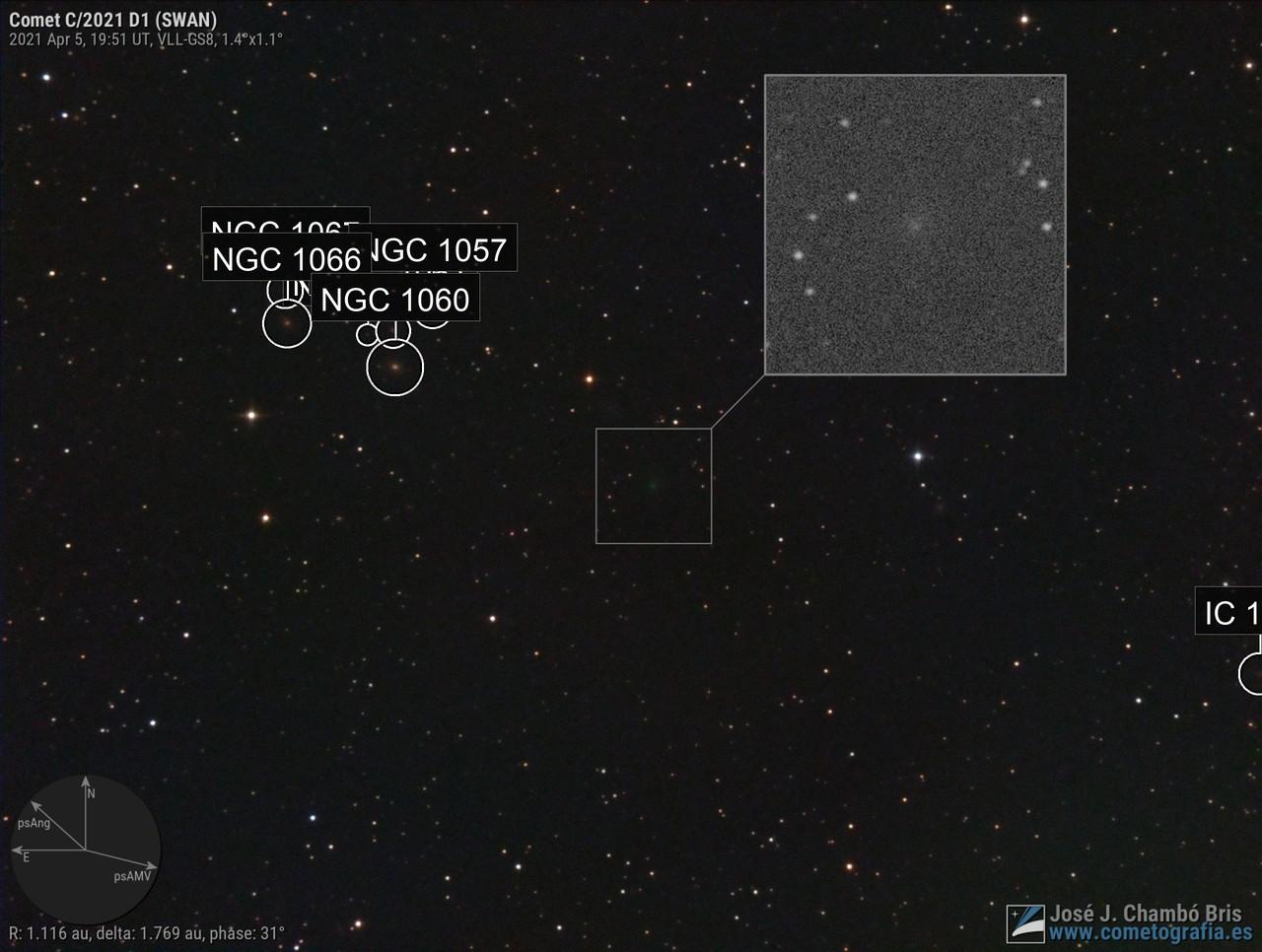 Comet C/2021 D1 SWAN