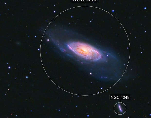 M106 Galaxy in HaLRGB from a White Zone