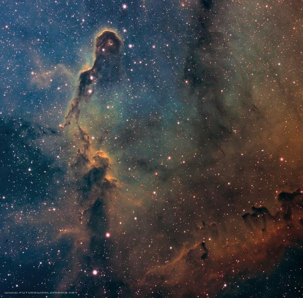 IC 1396 • Elephant's Trunk Nebula in SHO