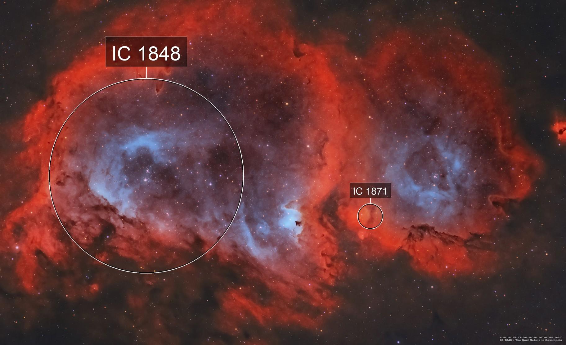 IC 1848 •Soul Nebula (Westerhout 5) in HOO