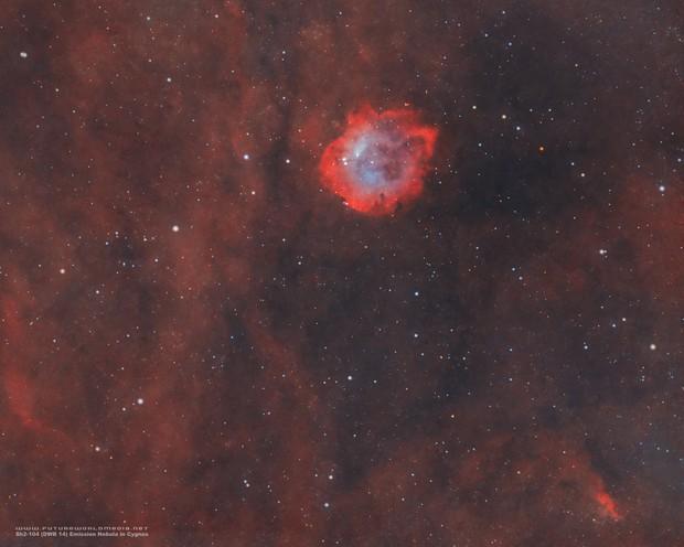 Rare Sh2-104 Emission Nebula in HOO