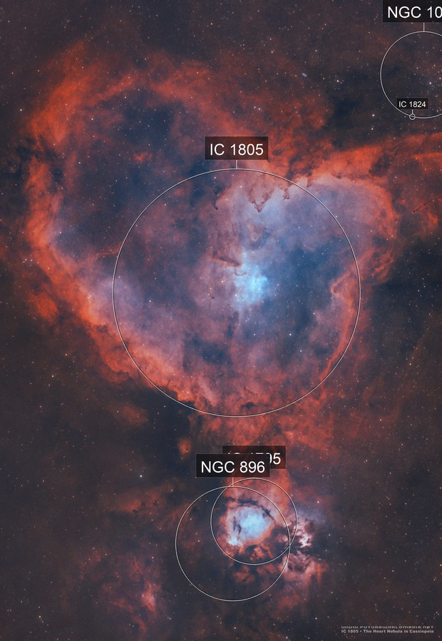 Going Deep on the Heart Nebula in HOO •IC 1805