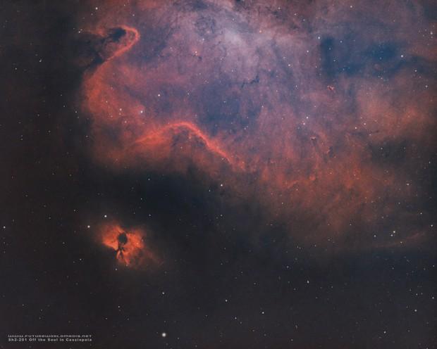 Sh2-201 Nebula Off of the Soul in HOO
