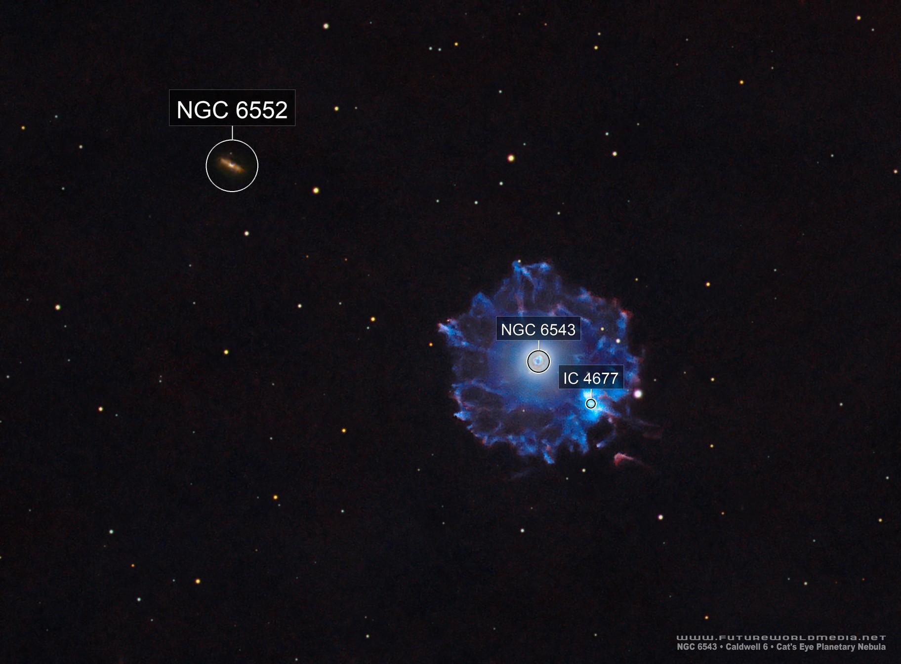 NGC 6543 •Cat's Eye Nebula in HaOIIIRGB