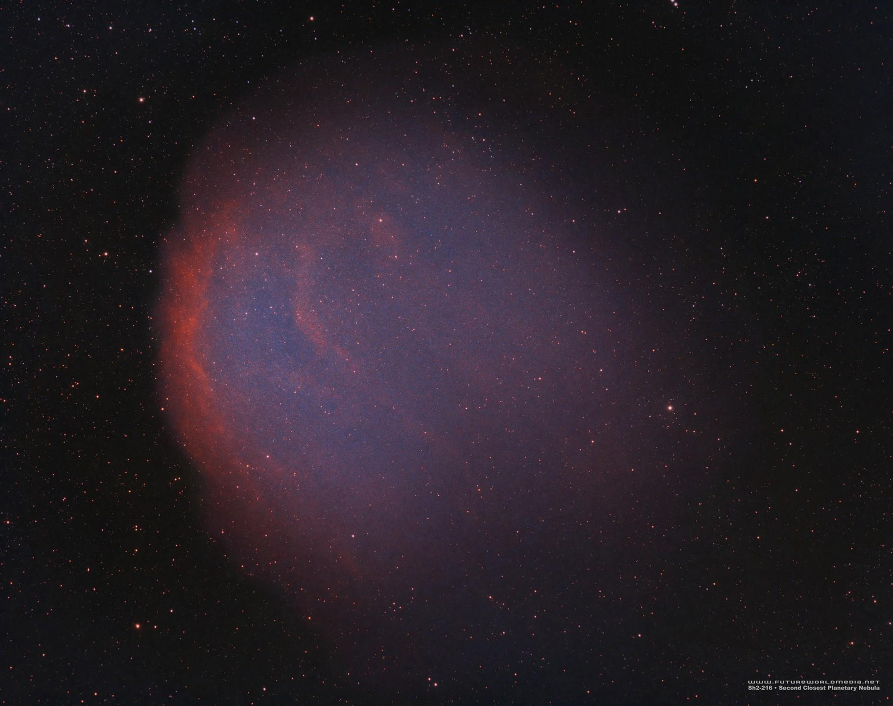 Sh2-216 •Biggest Planetary Nebula in HOO
