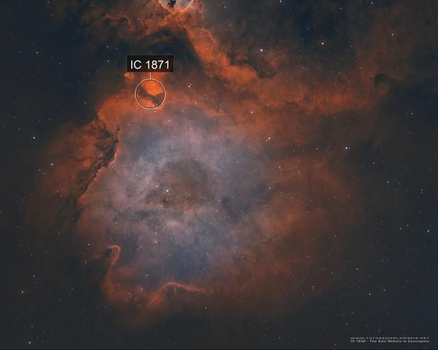 IC 1848 • Half of the Soul Nebula in HOO
