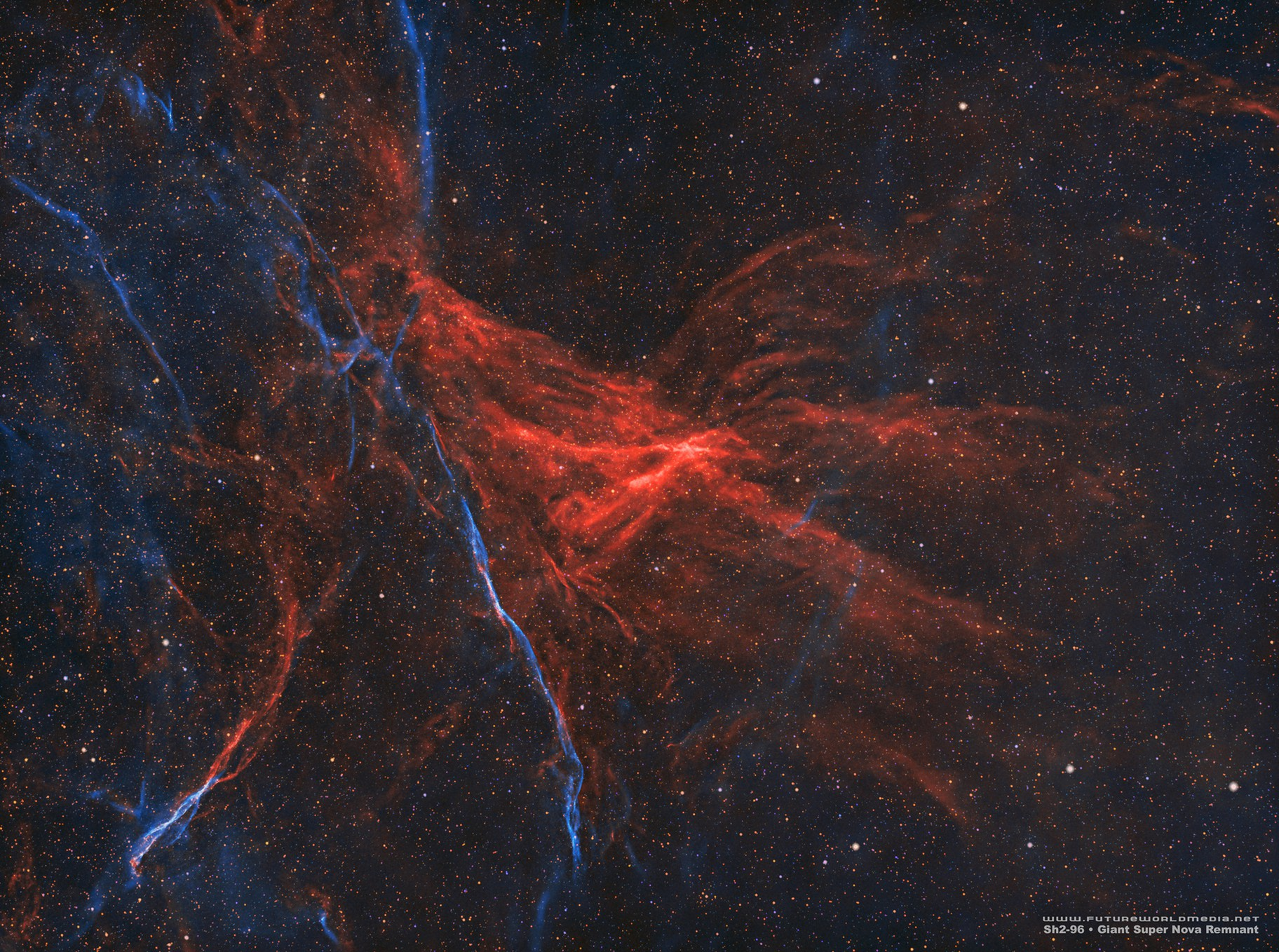 Sh2-96 • Giant Super Nova Remnant in HOO
