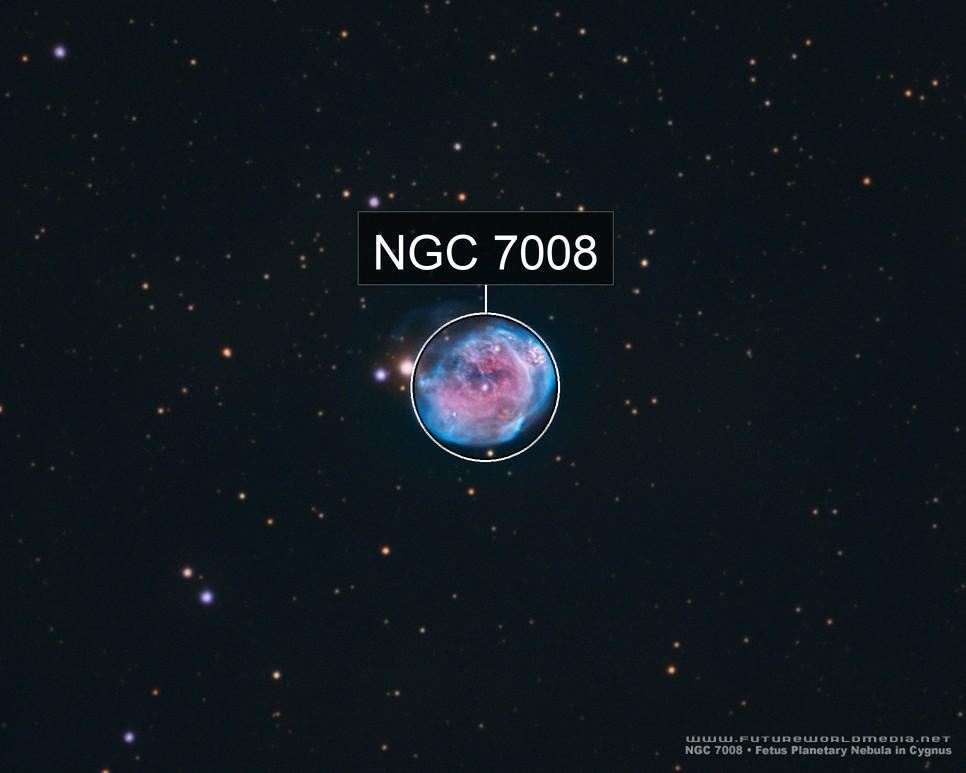 NGC 7008 • Fetus Nebula in HaOIIIRGB