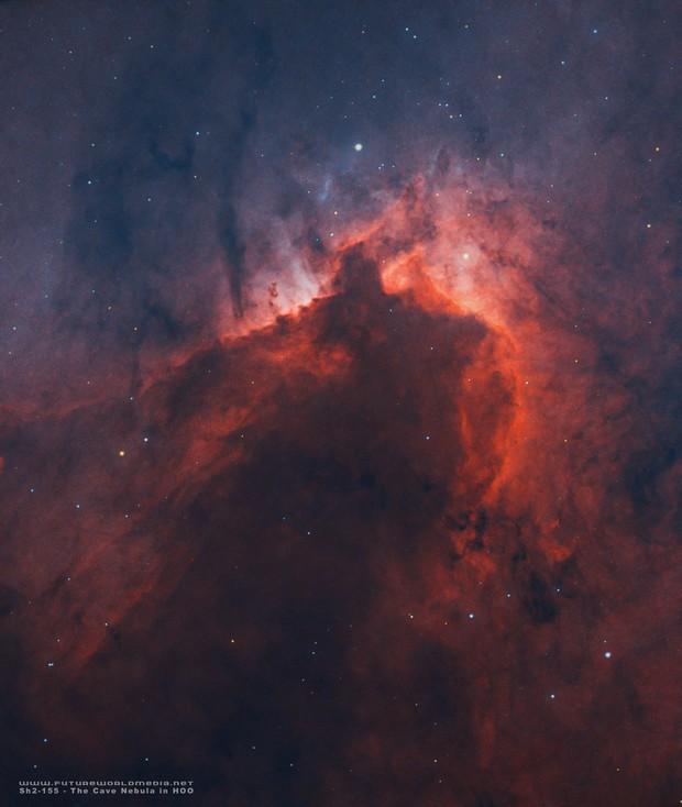 Sh2-155 • The Cave Nebula in HOO