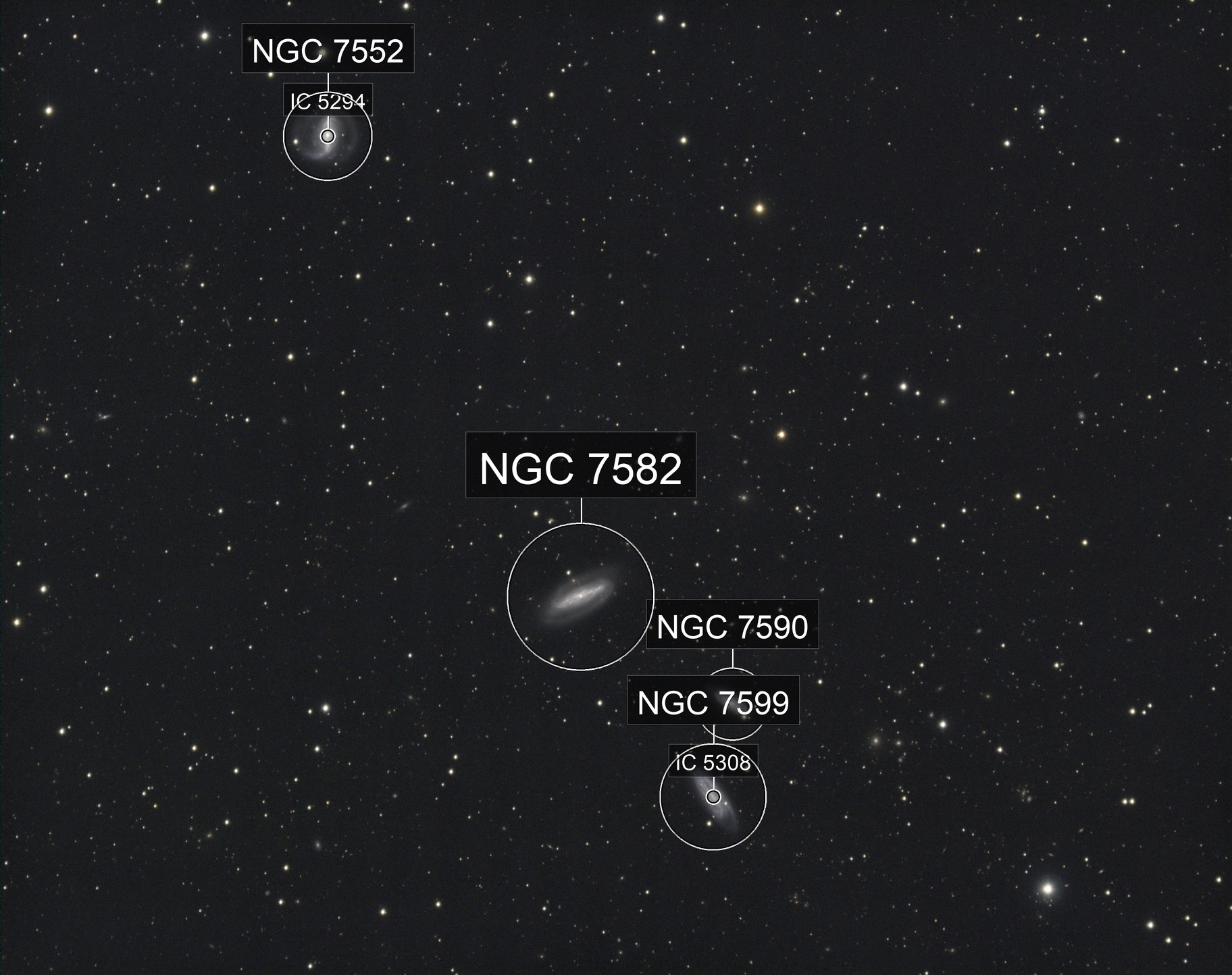 NGC 7552 Grus Quartet