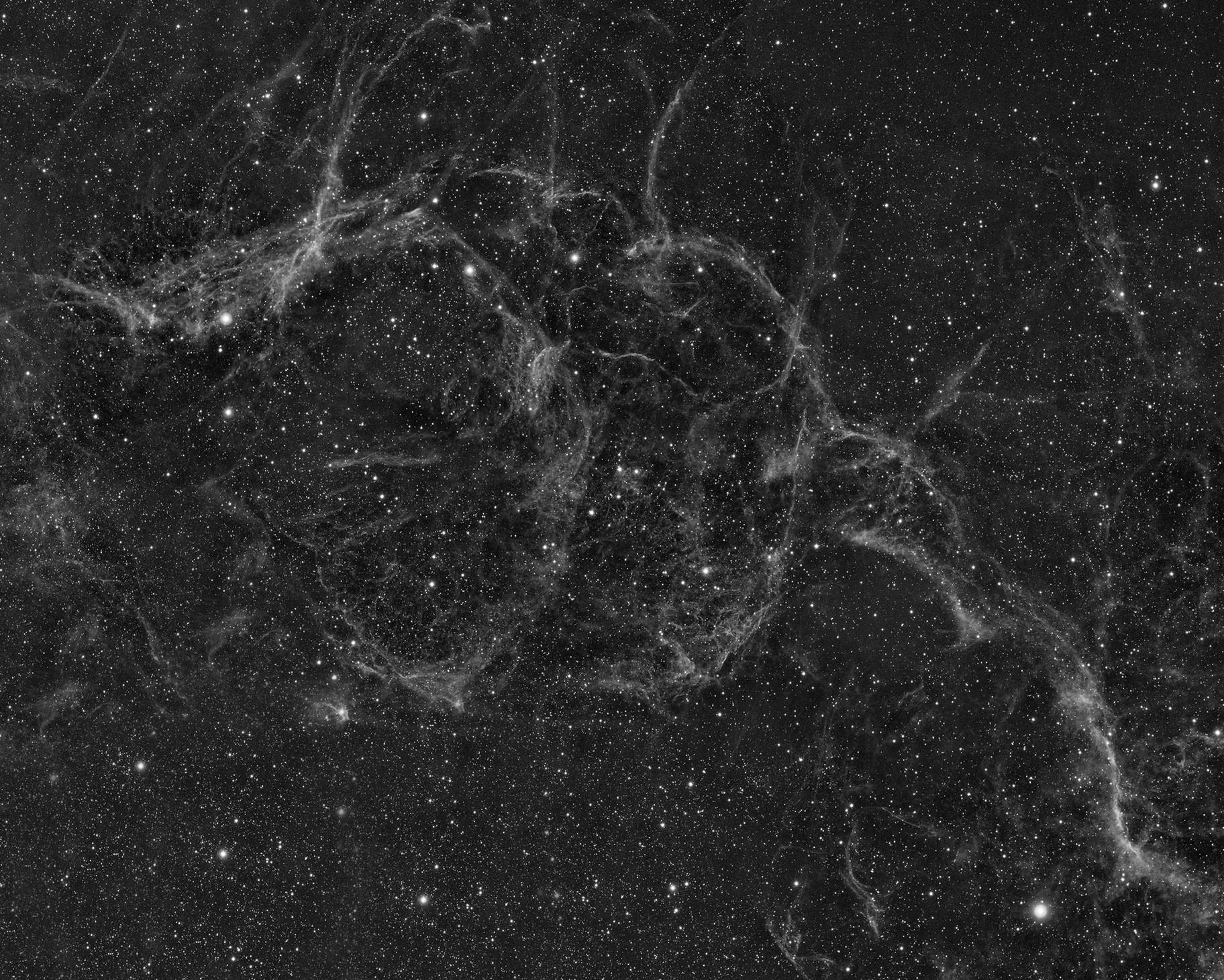Vela Super Nova Remnant in OIII Wide Field Mosaic