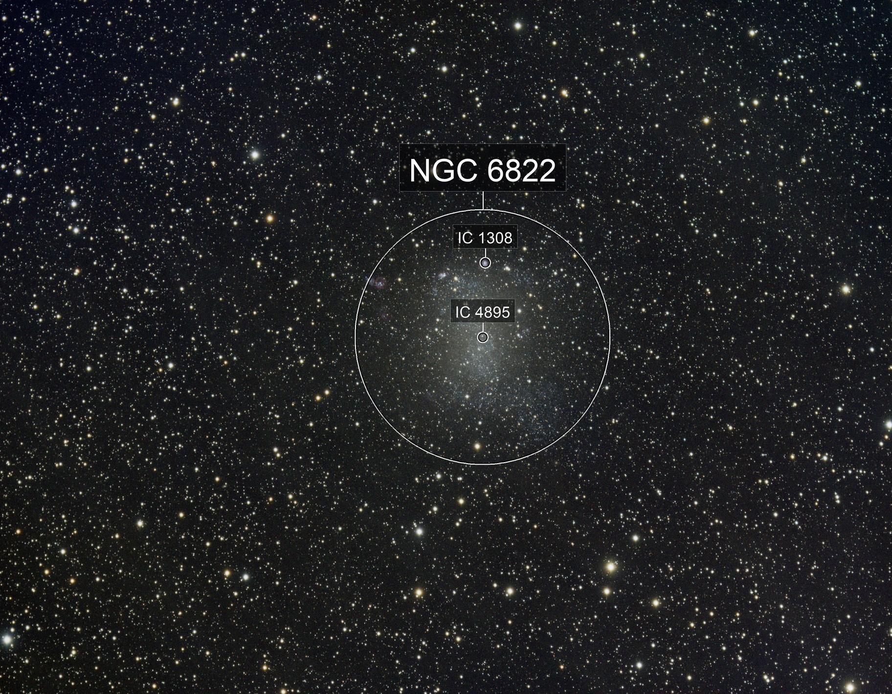 NGC6822 Barnards Galaxy