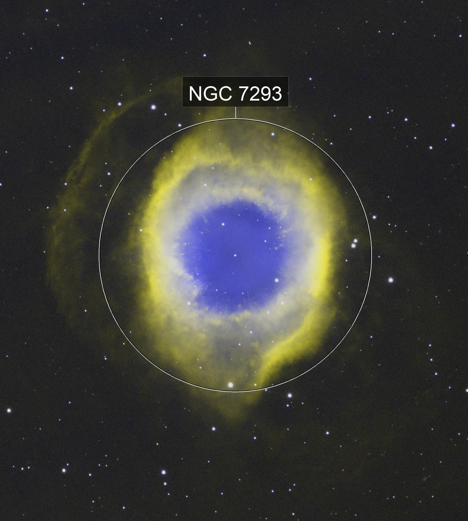 NGC7293-The Helix Nebula in NB