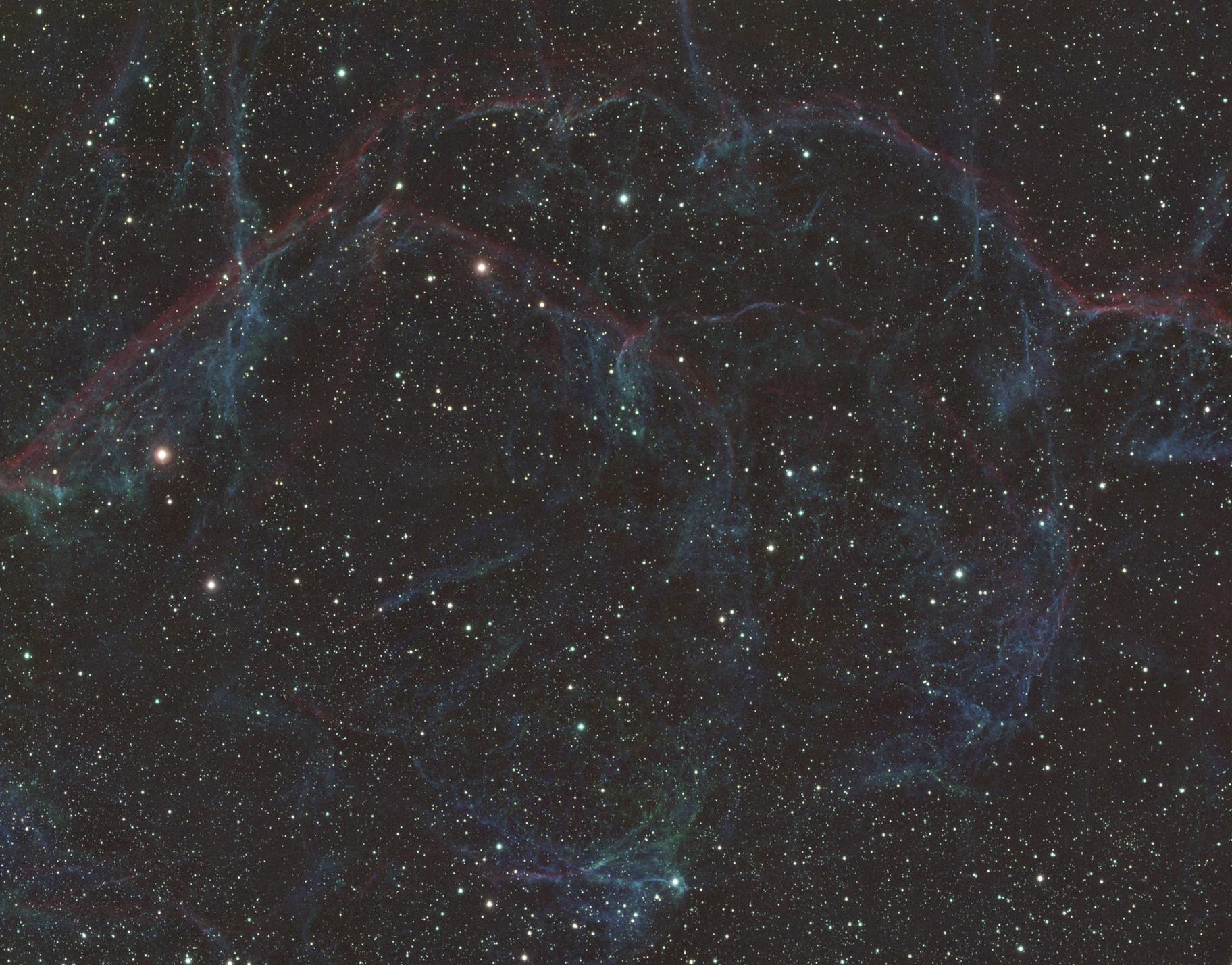 Vela Super Nova Remnant Mosaic in SIIHAOIII