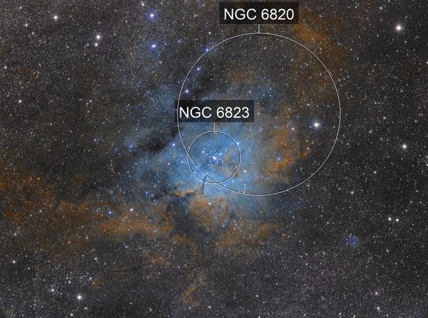 NGC6823 Hubble Palette