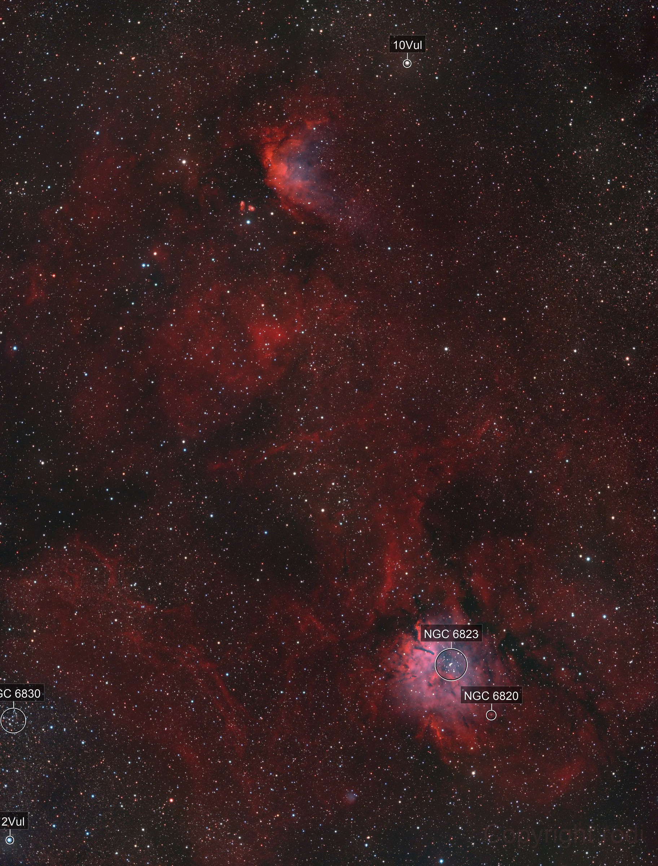 Sh2-86 (NGC6820), Sh2-87, Sh2-88