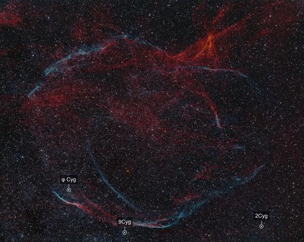 Cygnus-Loop SNR G65.3+5.7 (Sh2-91, Sh2-94, Sh2-96)