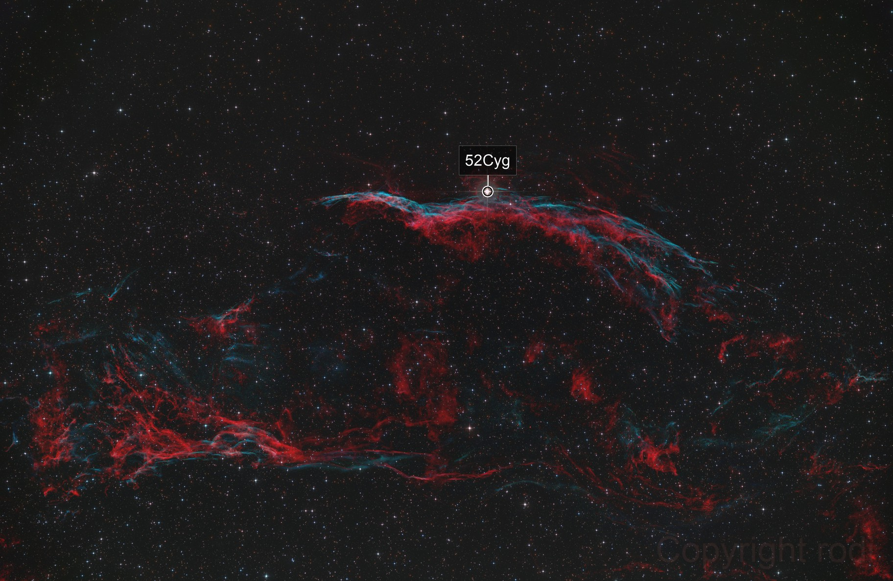 NGC6960 Witch Broom, NGC6979 Pickerings Triangle
