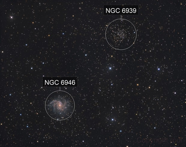 Fireworks-Galaxy NGC6946, NGC6939 (Melotte 231)