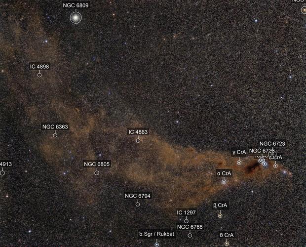 Corona Australis Molekular Cloud (Anteater-Nebula), NGC6809