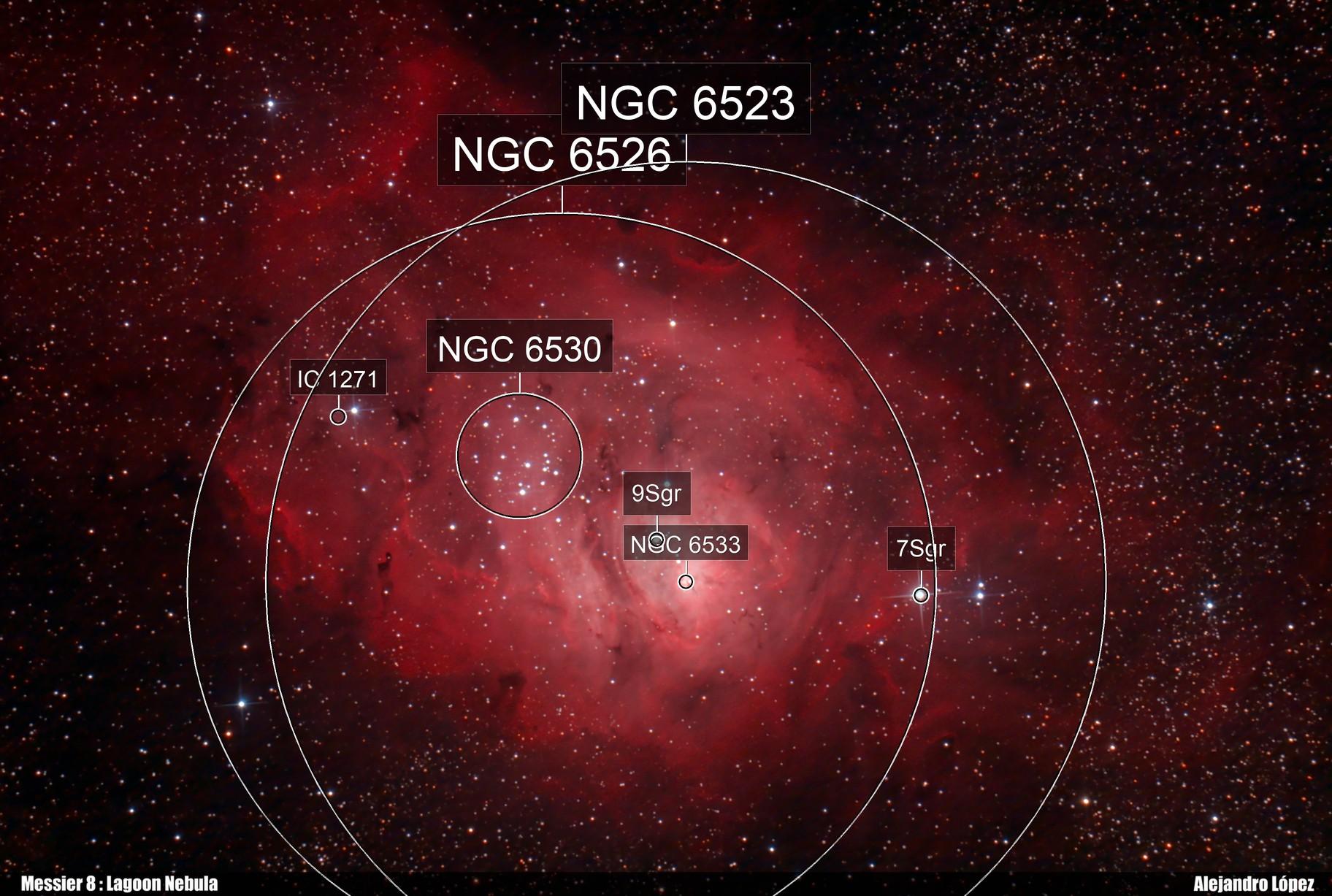 Messier 8. Lagoon Nebula