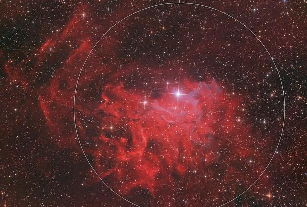 IC405. Flaming Star Nebula
