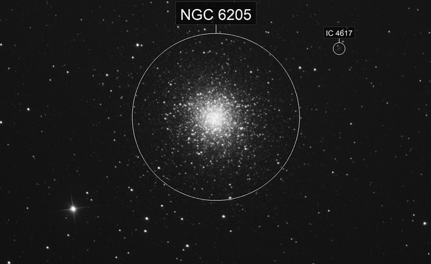 hercules (M13) - heavily cropped from wide field