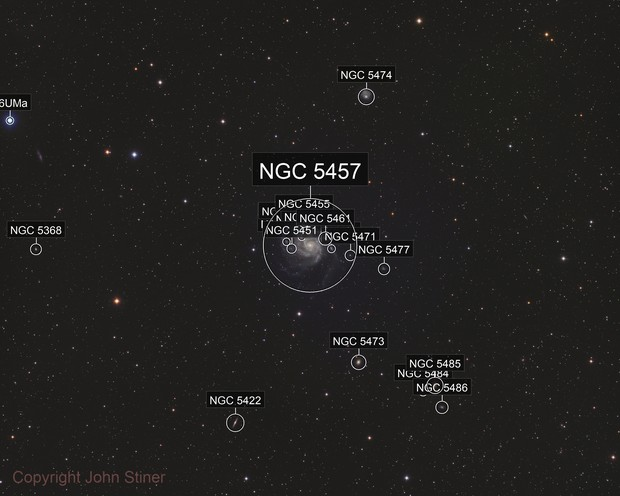 Messier 101 Widefield