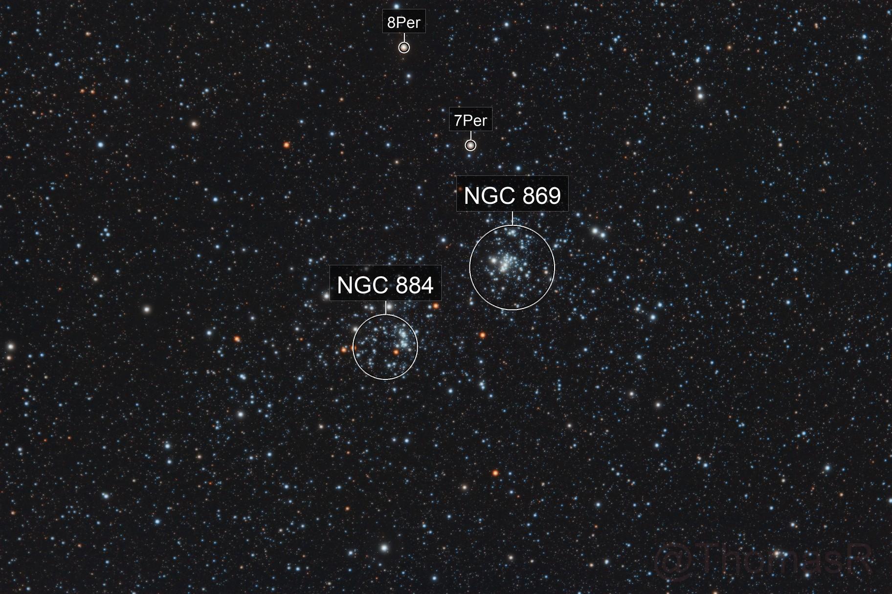 NGC 869 & NGC 884: The Double Cluster