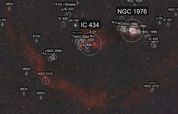 Hydrogen Alpha and Oxygen III in Orion