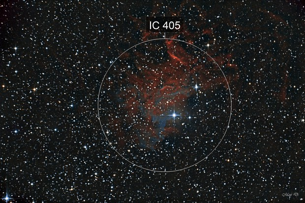 IC405 The Flaming Star