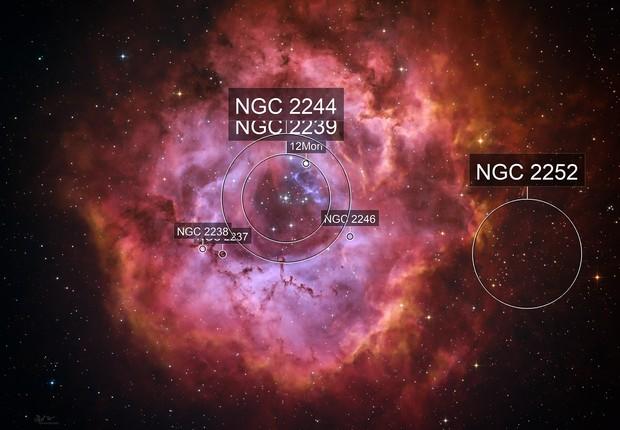 HaS2O3RGB - Rosette Nebula