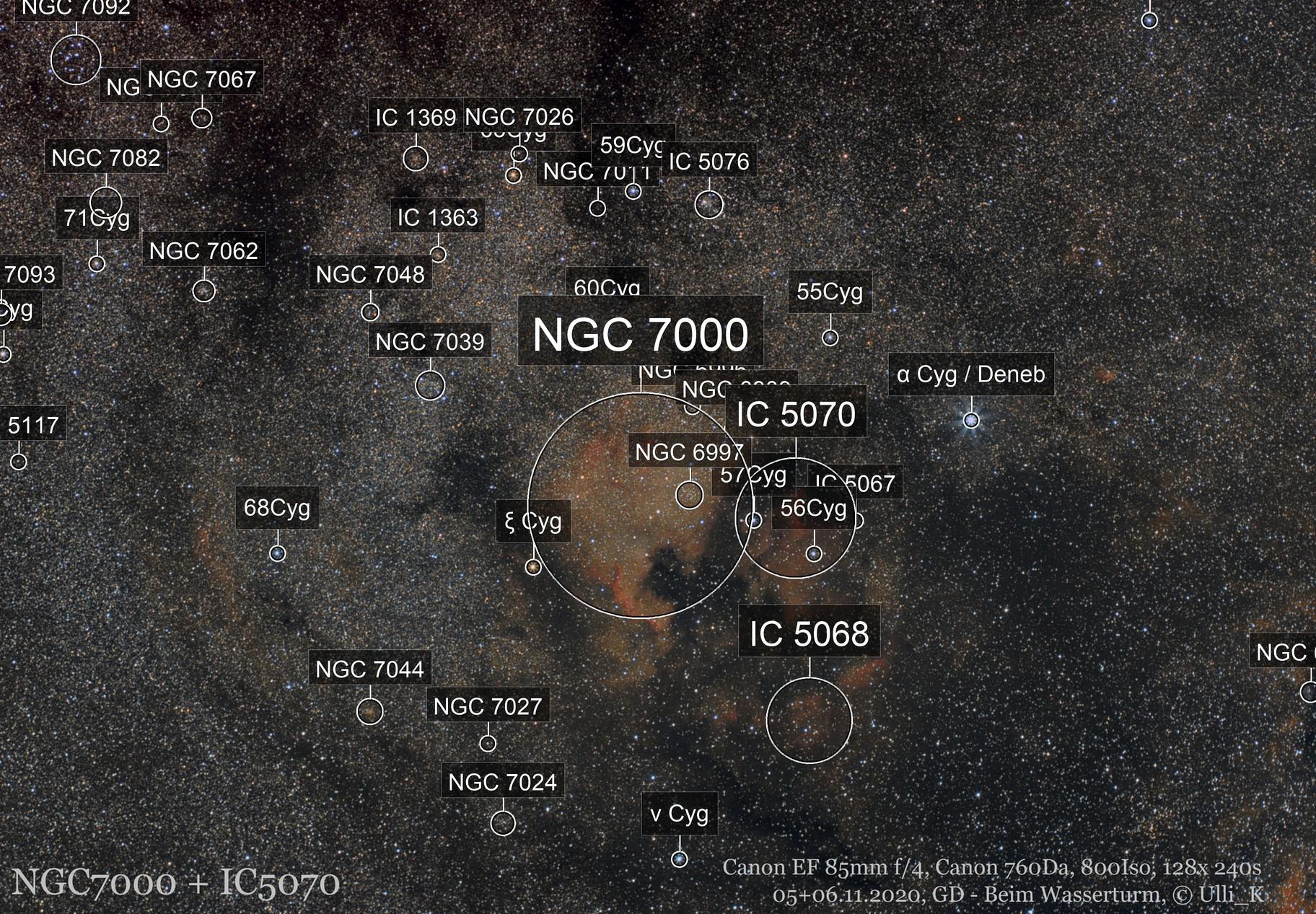 NGC7000 + IC5070 widefield