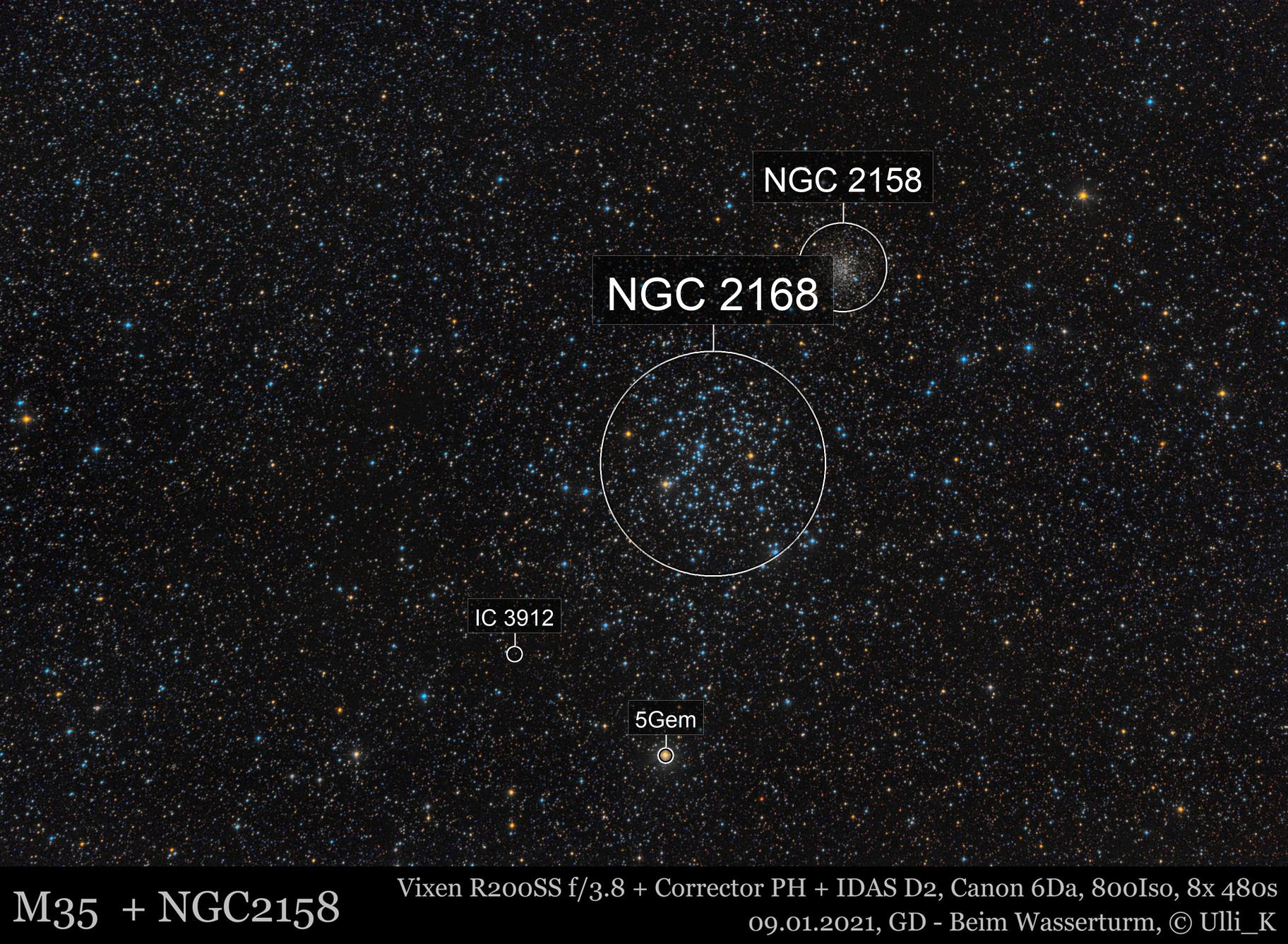 M35 + NGC2158