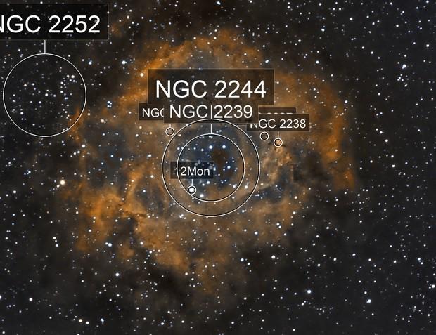 Rosette nebula experiments : ASI224MC + Samyang 135mm