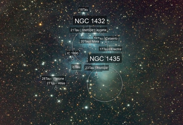 M45 / Pleiades RGB with Samyang 135 / ASI183MM