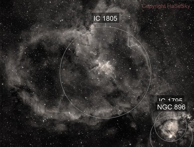 IC1805 (Heart Nebula) H-alpha