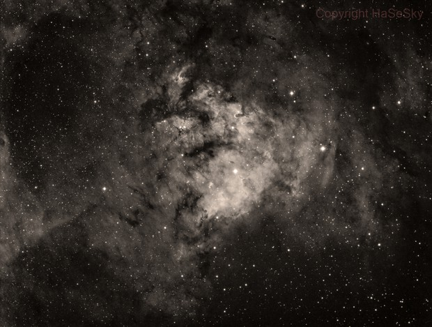 Ced 214 (Cederblad 214 - part of NGC7822) in h-alpha