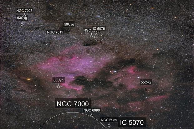 North America Nebula With Pelican - Pentax 300mm DA*