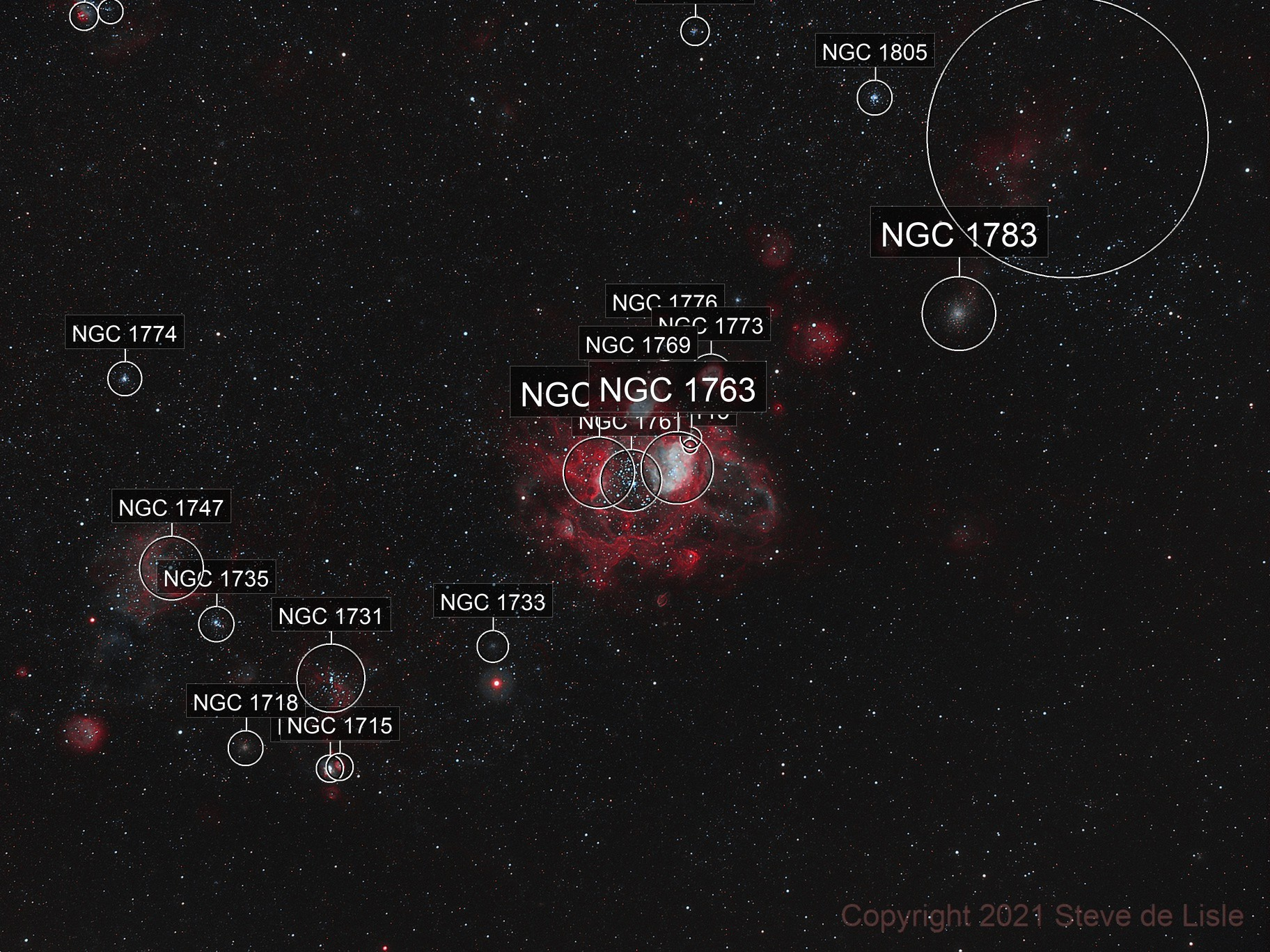 NGC1760 and NGC1761 in the LMC