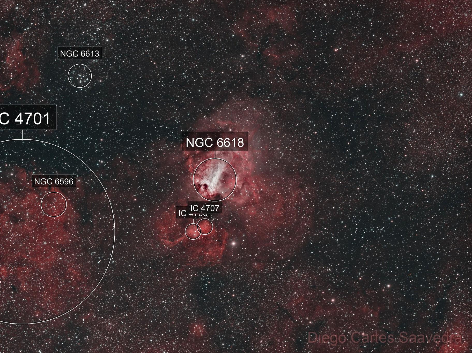 M17 - Omega Nebula (Bicolor palette)
