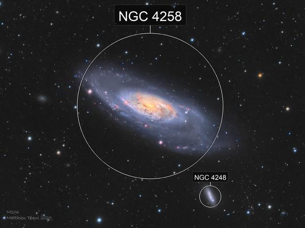 M106-galaxie spirale