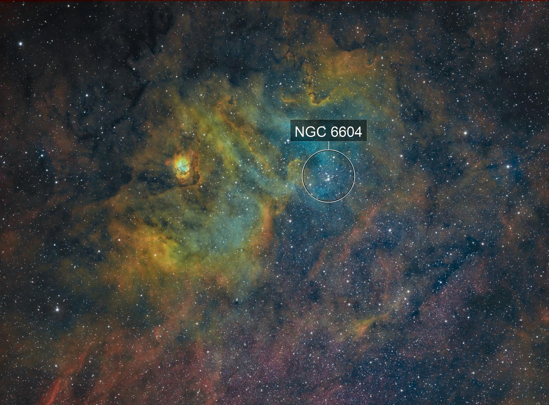 Ngc 6604 & sh2-54 SHO