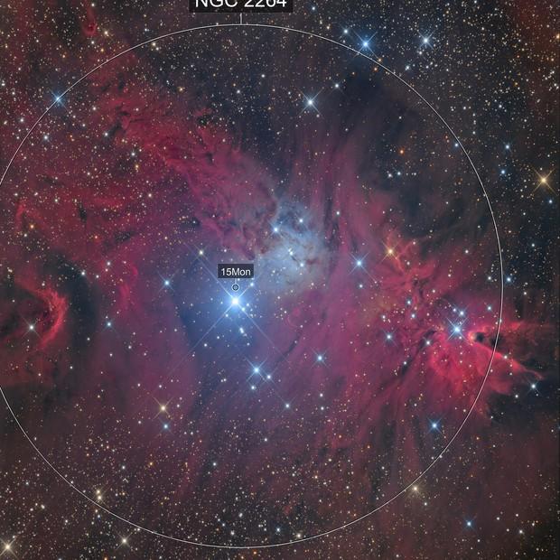 Ngc 2264-nébuleuse du cône- chilescope
