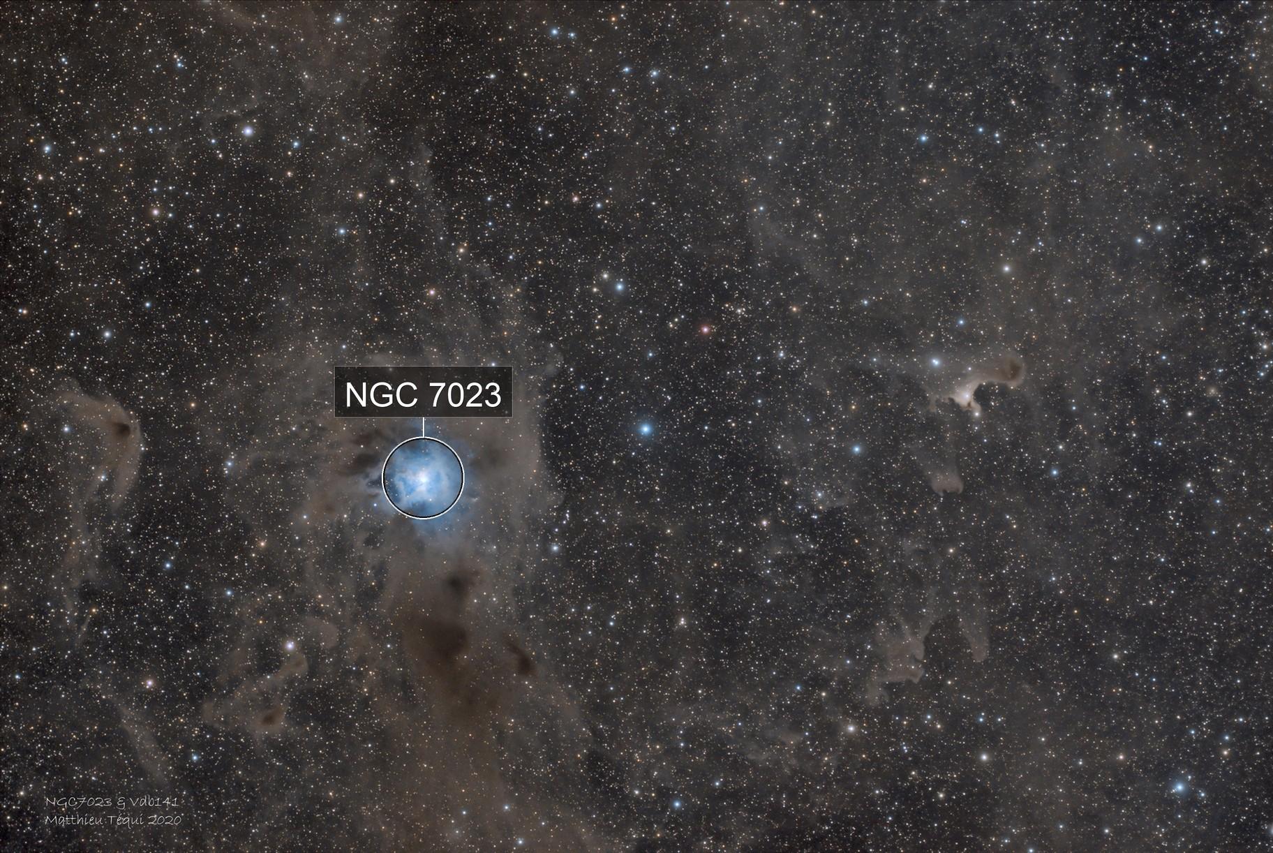Ngc 7023 & Vdb141-nébuleuse de l'iris et du fantôme