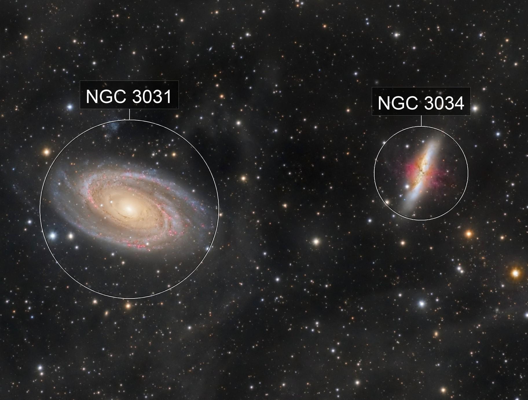 M81&M82-galaxies de Bode et du cigare