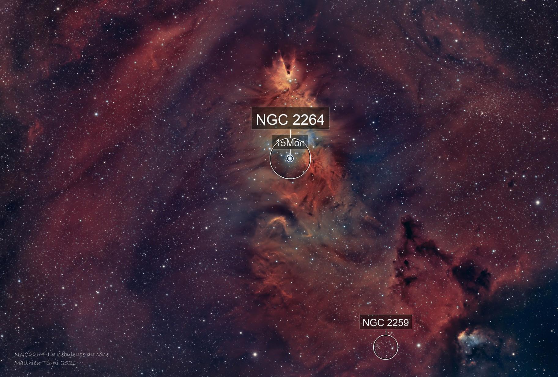 NGC 2264-la nébuleuse du cône HOO