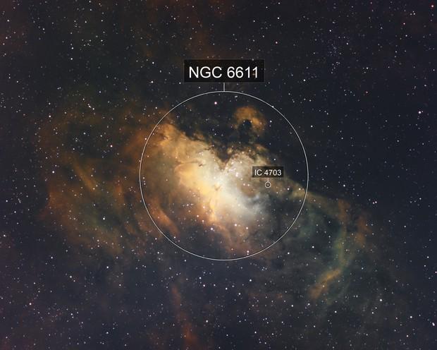 Eagle Nebula in NHO blend