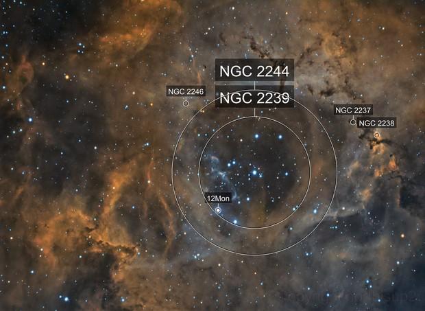 NGC 2244 Bi Color