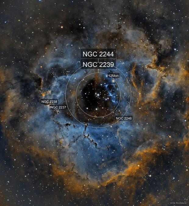 Rosette Narrowband Hubble palette